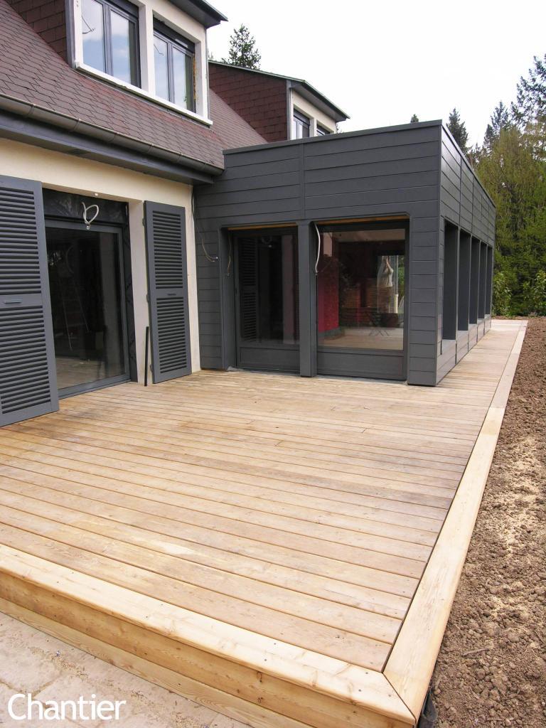 extension en ossature bois et r am nagement d 39 une maison. Black Bedroom Furniture Sets. Home Design Ideas