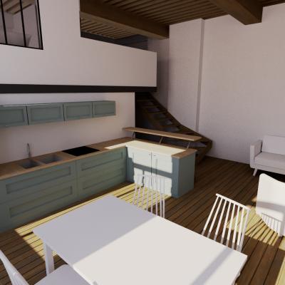 Rénovation d'un appartement / L. M.