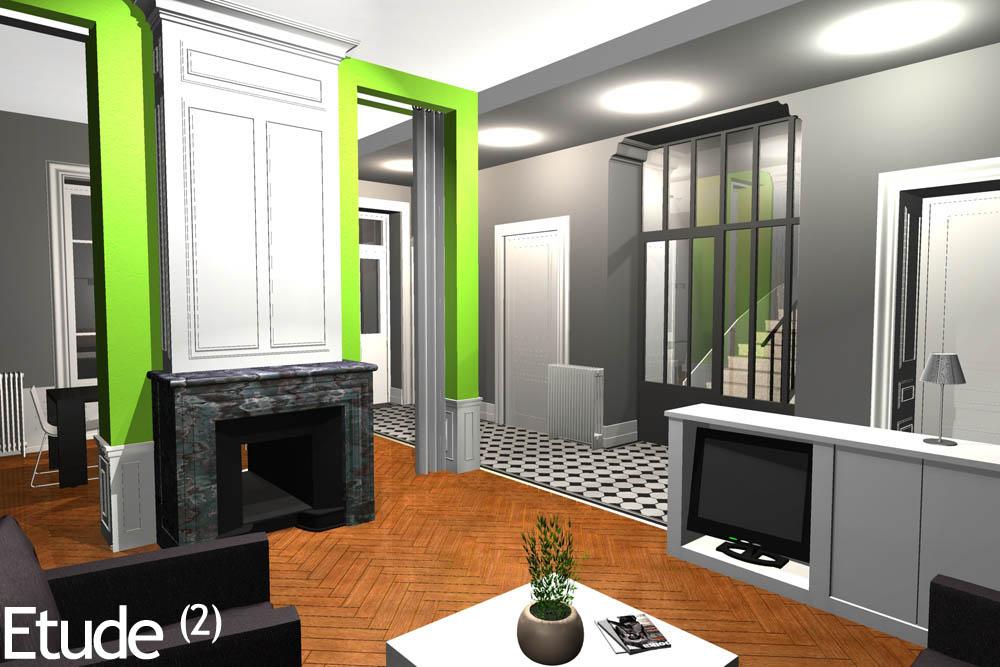 r novation d 39 une maison bourgeoise et cr ation de chambres d 39 h tes. Black Bedroom Furniture Sets. Home Design Ideas