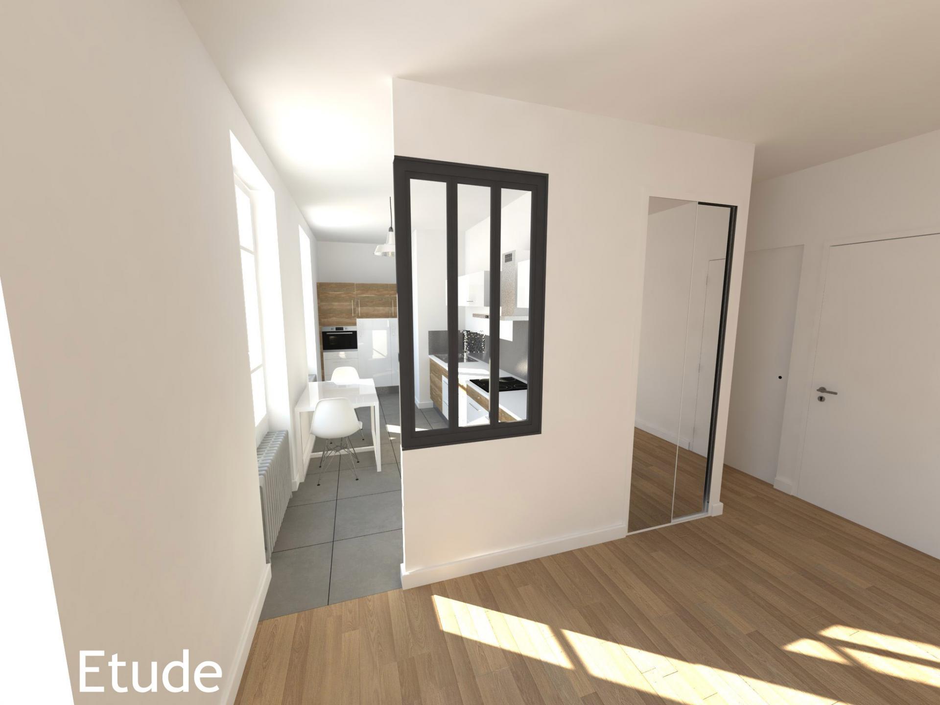 cr ation de deux appartements dans une maison. Black Bedroom Furniture Sets. Home Design Ideas