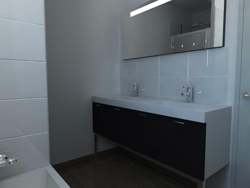 cr ation de deux salles de bain. Black Bedroom Furniture Sets. Home Design Ideas