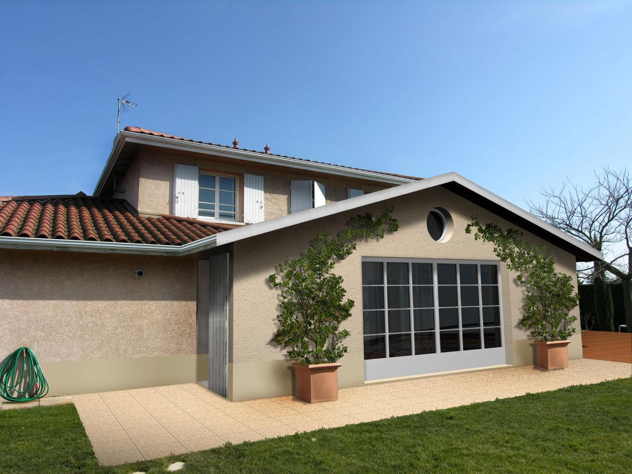 Extension d 39 une maison en rdc - Photo d une maison ...