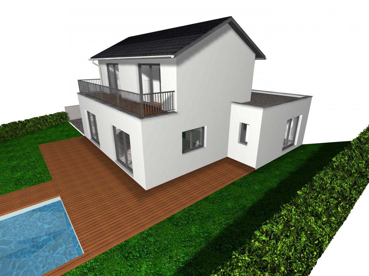 Vue 3d maison maison moderne for Architecture 3d vue 3d
