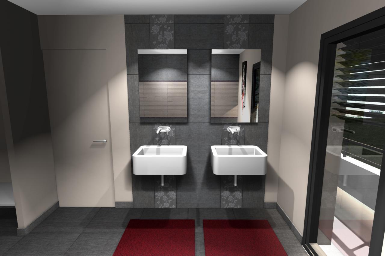Maison contemporaine r 1 for Sdb moderne